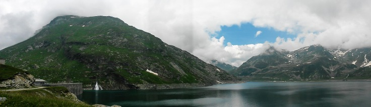 View of the reservoir above Madesimo